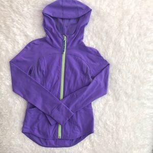 Ivivva technical fabric jacket in brilliant purple